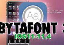 Bytafont 3 iOS 11